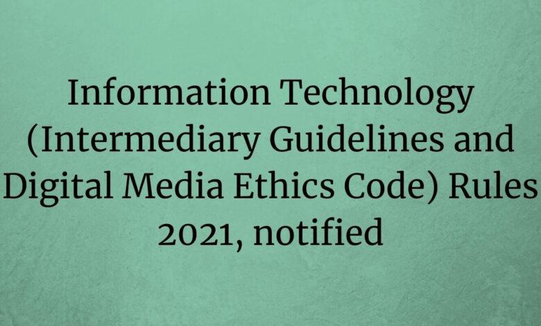 IT rules 2021