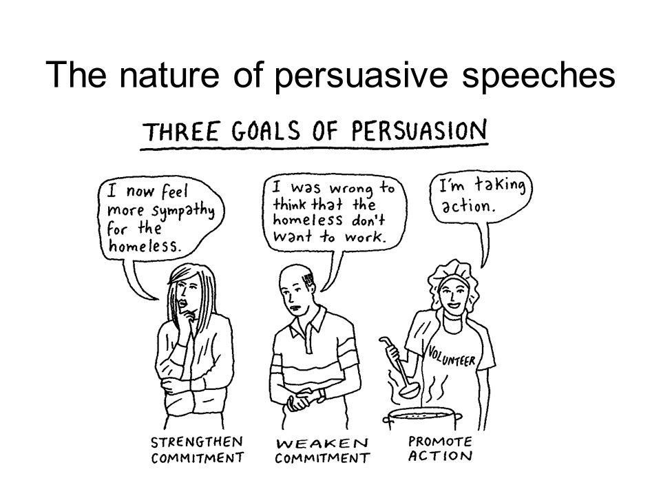 The nature of persuasive speaker
