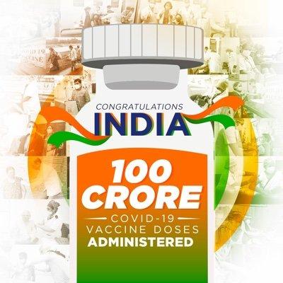 100-crore jabs milestone