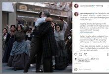 Ryan Reynolds hugging Will Ferrell